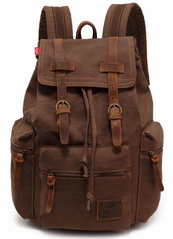 ca66a174c7 Canvas backpack   ALL MINE+   Leather Backpack, Vintage backpacks ...