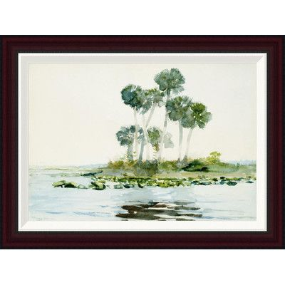 "Global Gallery St. Johns River, Florida by Winslow Homer Framed Painting Print Size: 19.2"" H x 26"" W"