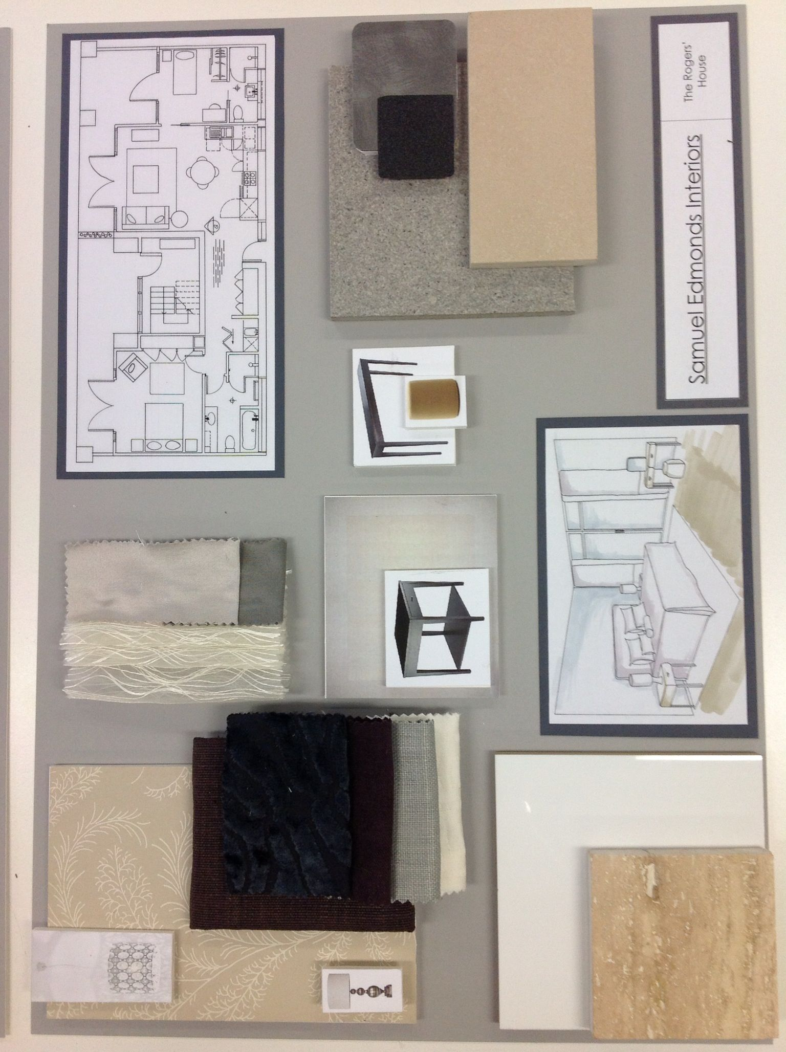 Sample Board 3 Interior Design Presentation Boards Mood Board