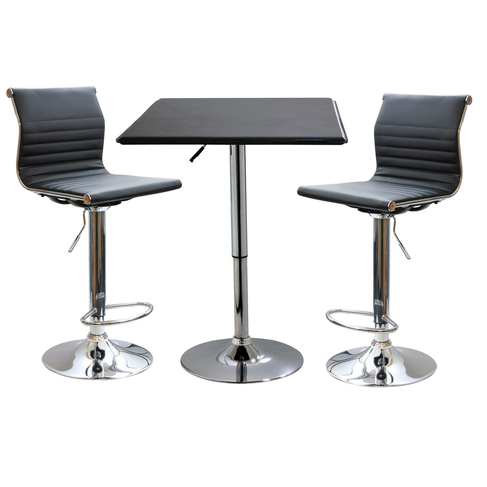 3-Piece Davis Adjustable Pub Table Set | Products | Pinterest | Pub ...