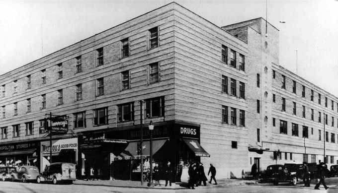 TITLE Coulson Hotel opened January, 1938 (replacing burned New American),  corner of Durham and Cedar Streets. -- SOURCE … | Pinteres…