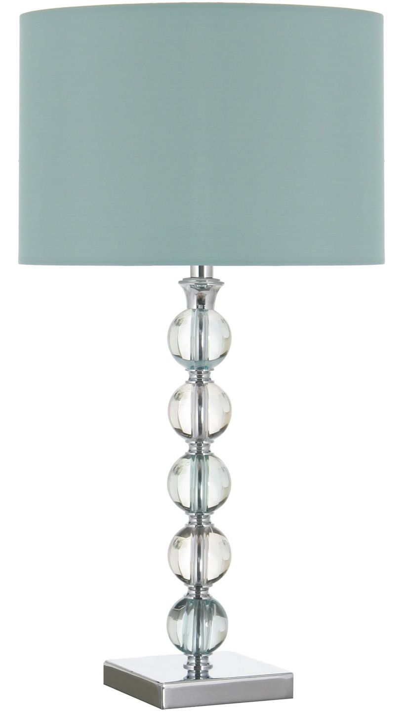 Table lamp with duck egg blue shade. £59.99 www