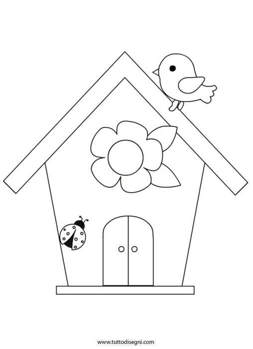 Isegni Primavera Casetta Uccelli Patrones Pinterest Casette