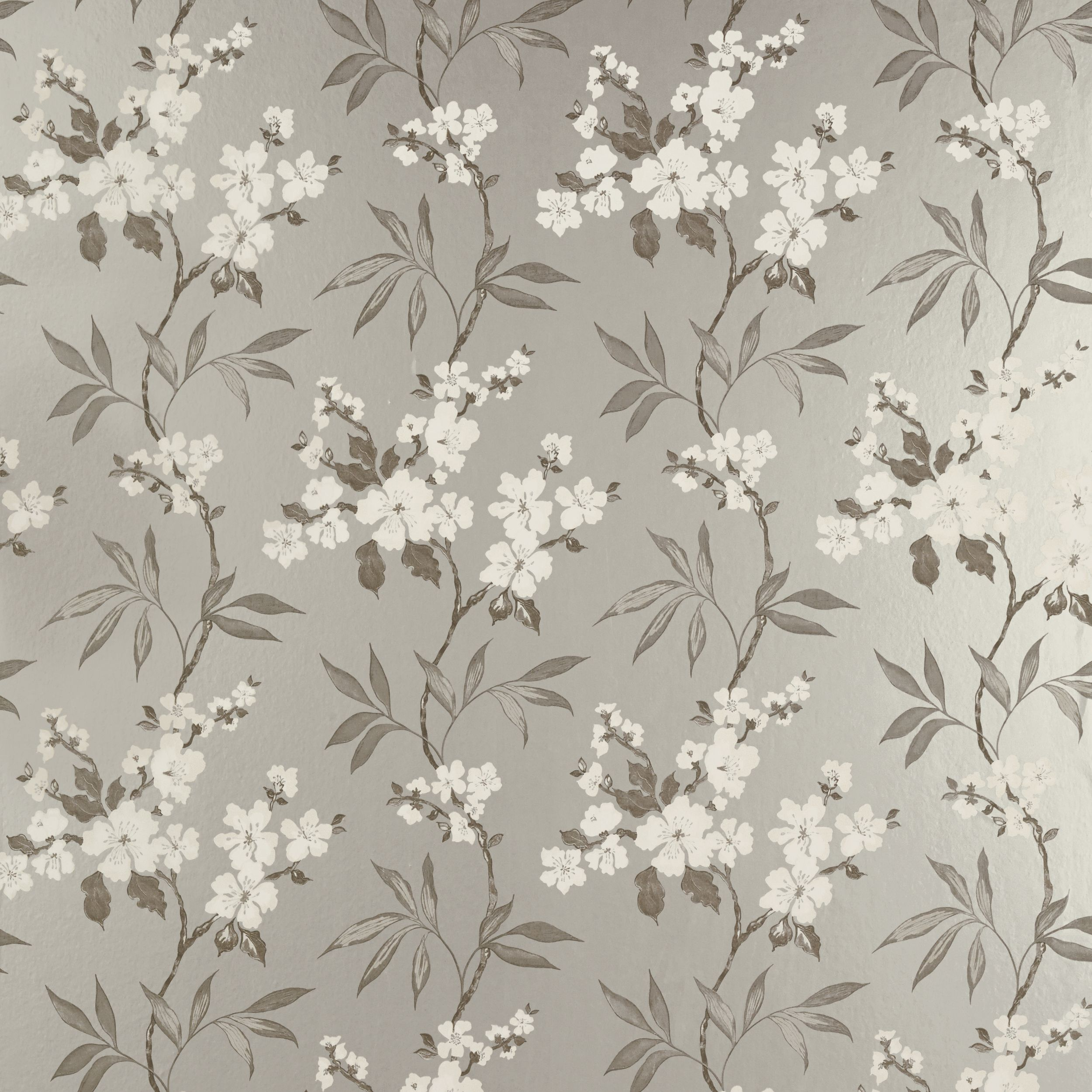 Calissa Pewter Floral wallpaper, Laura Ashley Feature