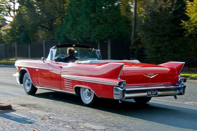 Heading South Into The Sun Clic 1950 S Red Cadillac Convertible By Clicks 1000 Away Via Flickr