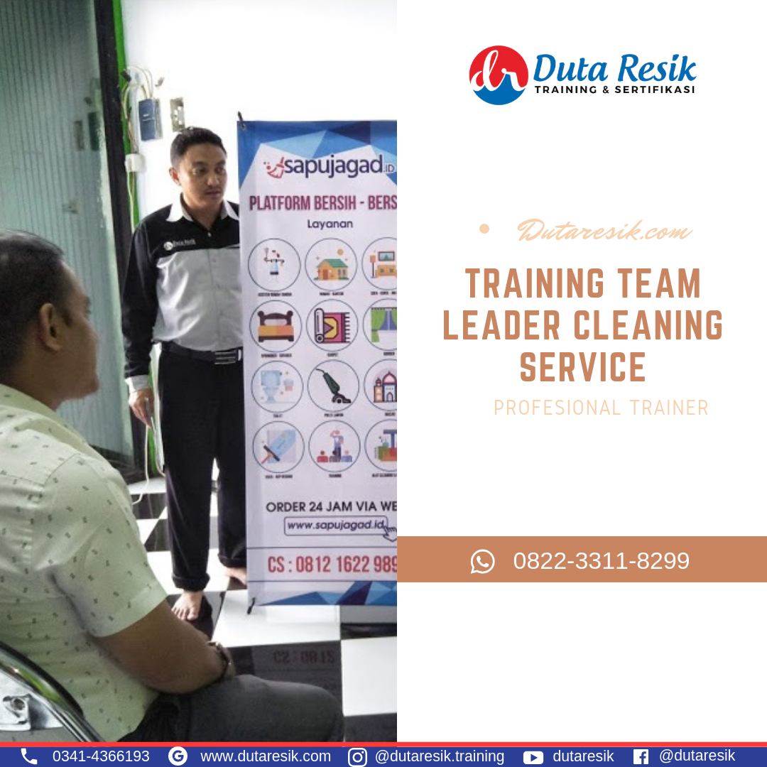 Sertifikasi training cleaning service, pelatihan training