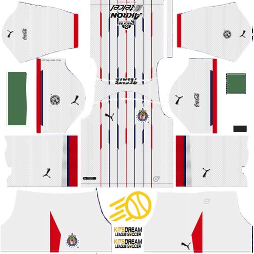 eca5299f924 ▷ Kits Chivas de Guadalajara Dream League Soccer 2019 - 2018 | Kits ...