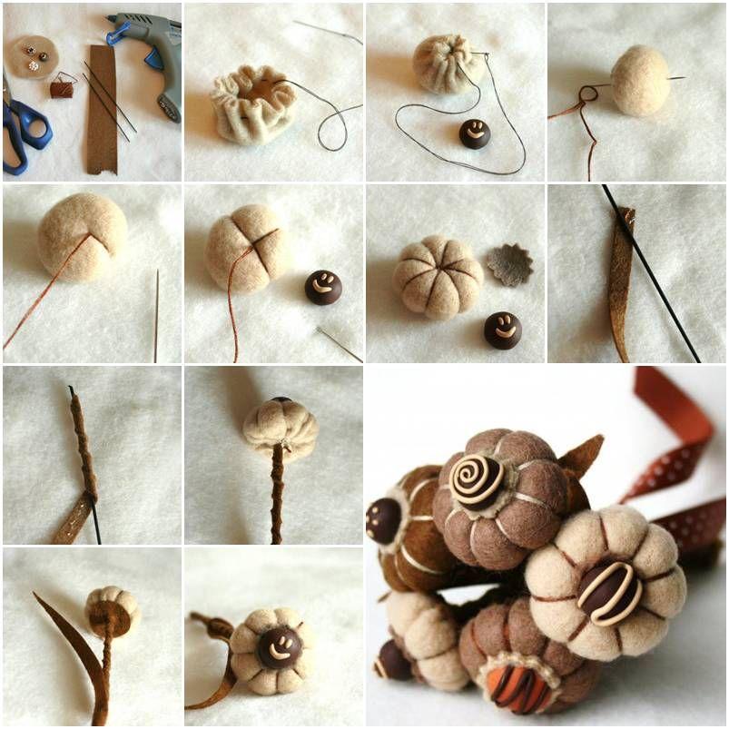 How To Make Felt Flower Bouquet step by step DIY tutorial ...