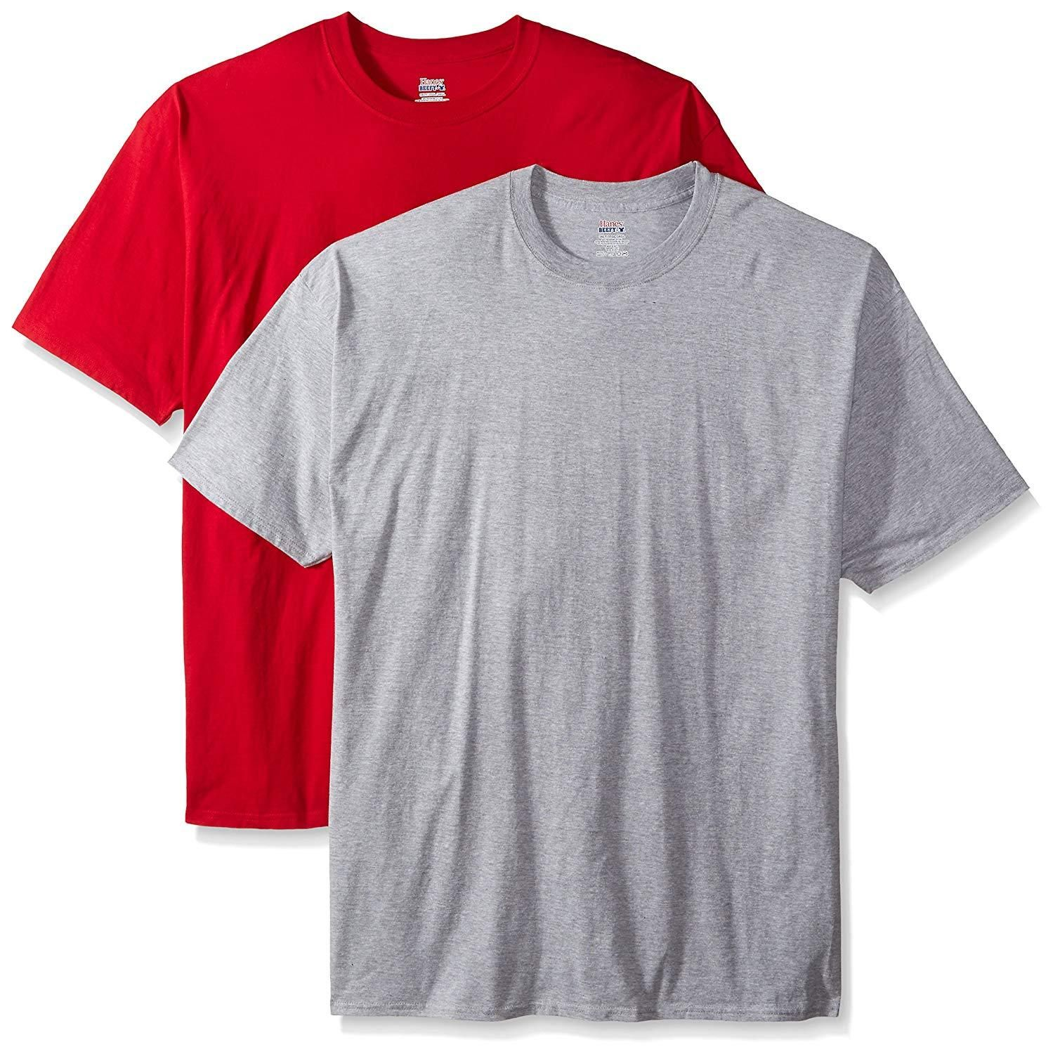 b76384f71656 Hanes Men's Tall Short-Sleeve Beefy T-Shirt (Pack of Two) in 2019 ...