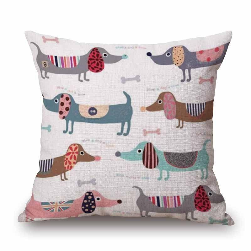 Dachshund Sketch Sofa Cushion Cover
