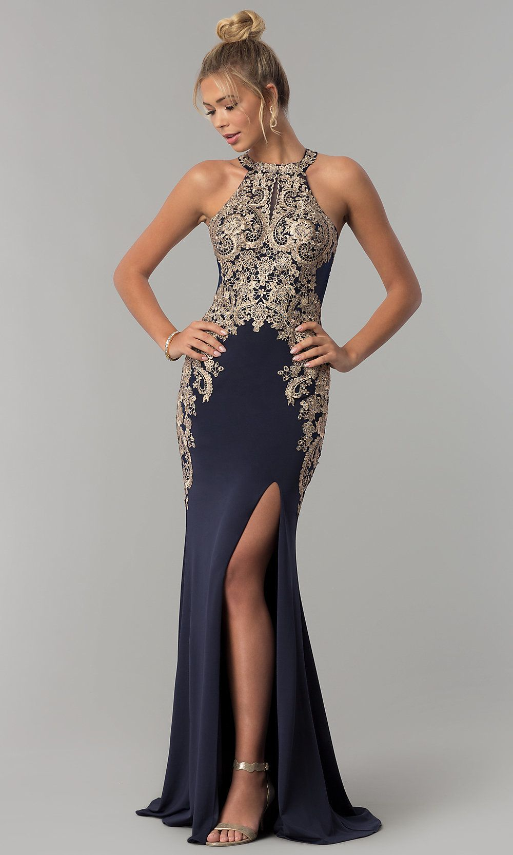 Elizabeth K Prom Dress with Lace Bodice