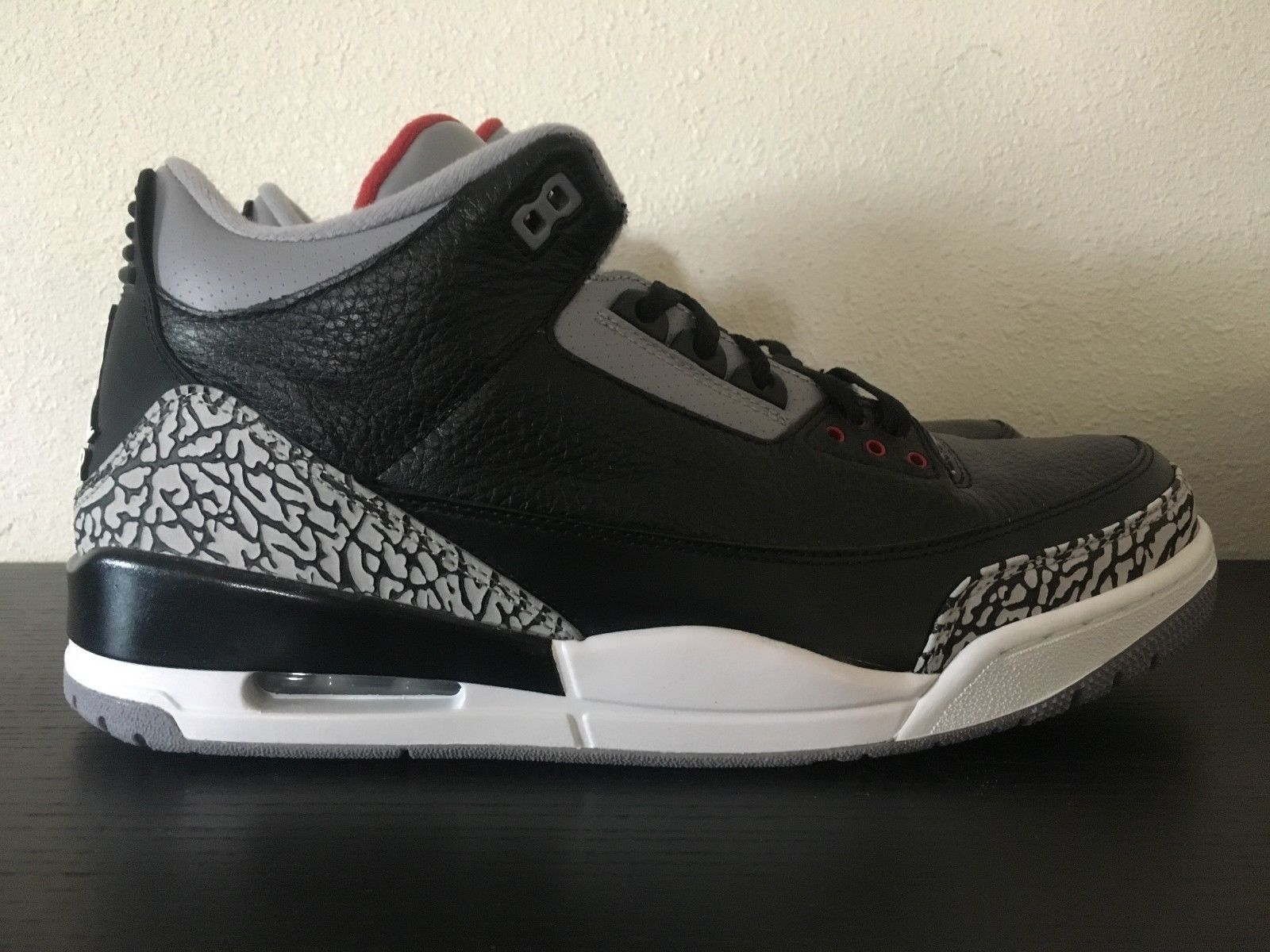 a3bb9503d3d7 Details about Nike Air Jordan III 3 Retro - Black Cement - 2011 ...