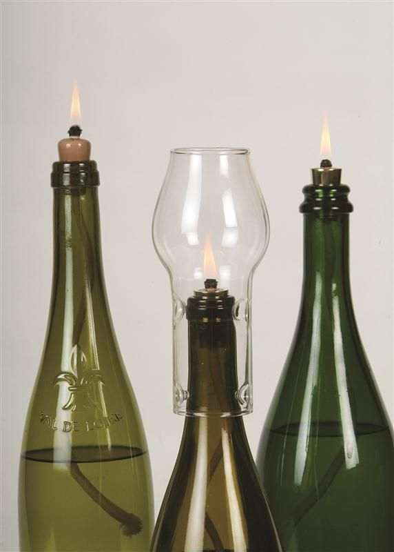 Turn Any Wine Bottle Into A Versatile Oil Lamp For Just A Few