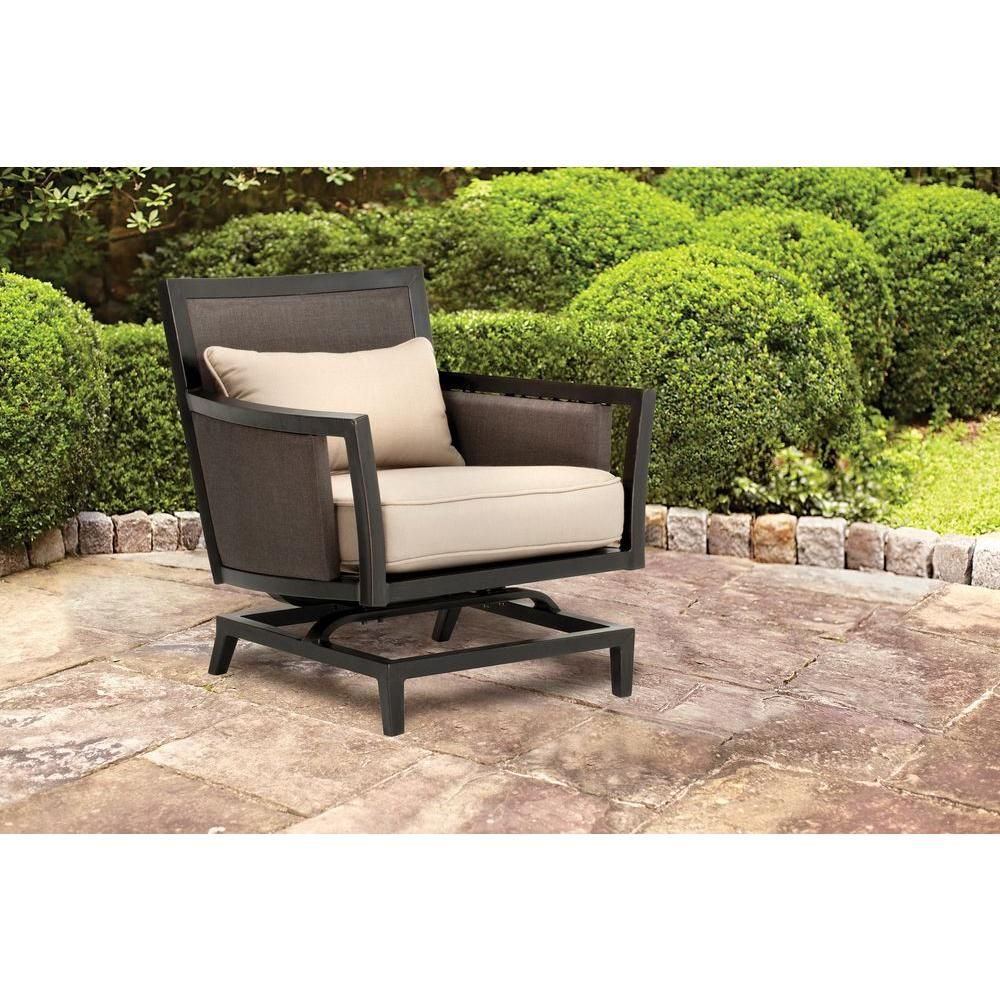 Brown jordan greystone patio motion lounge chair with sparrow