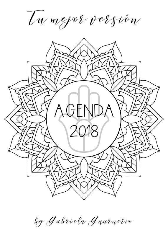 Agenda 2018 con Mandalas para colorear y consignas de journaling ...