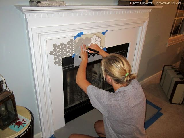 How To Paint A Fireplace How To Stencil Pinterest