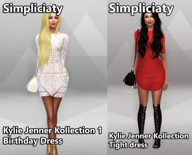 kylie jenner collection 1 at simpliciaty via sims 4 updates the