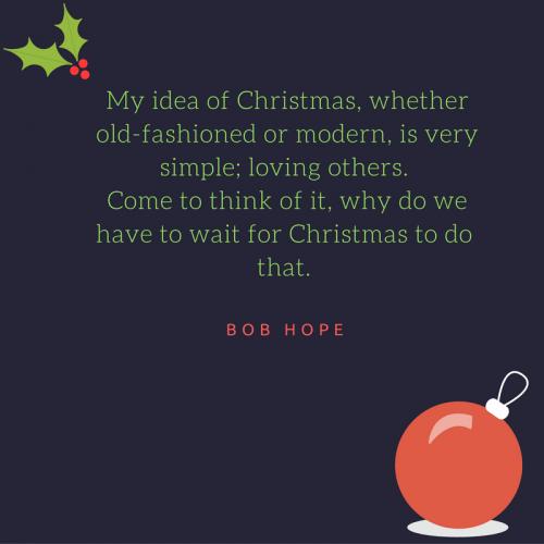 Bob hope christmas quote