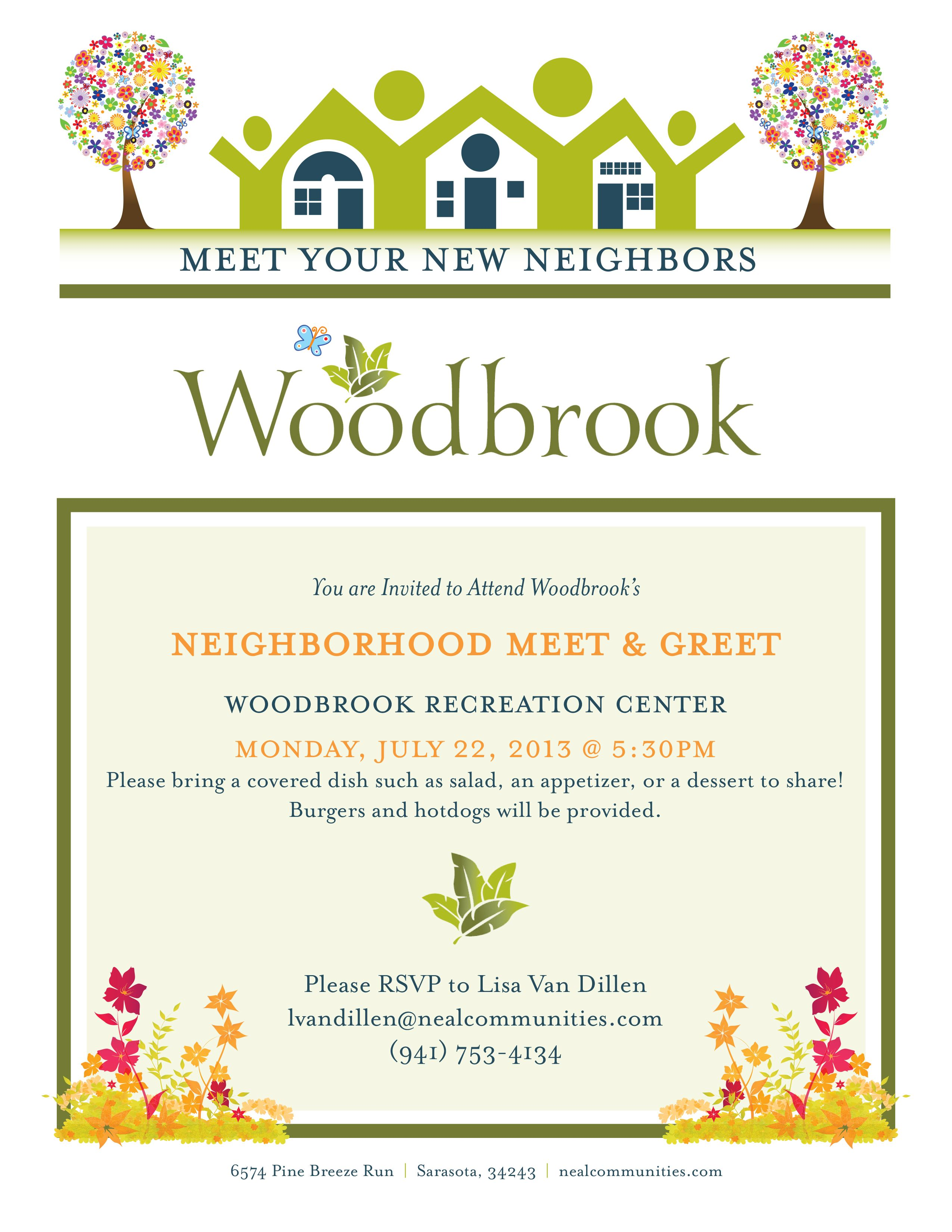 Client: Neal Communities / Project: Neighborhood Meet & Greet Flyer ...