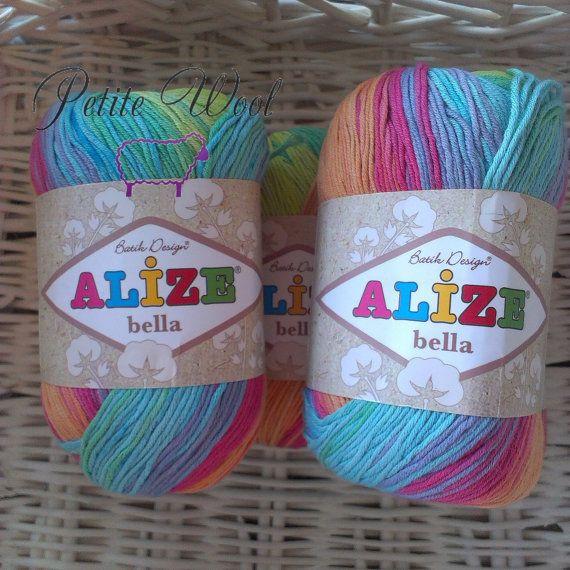 Batik Cotton Baby Yarn BELLA BATIK 100% Cotton By ALIZE
