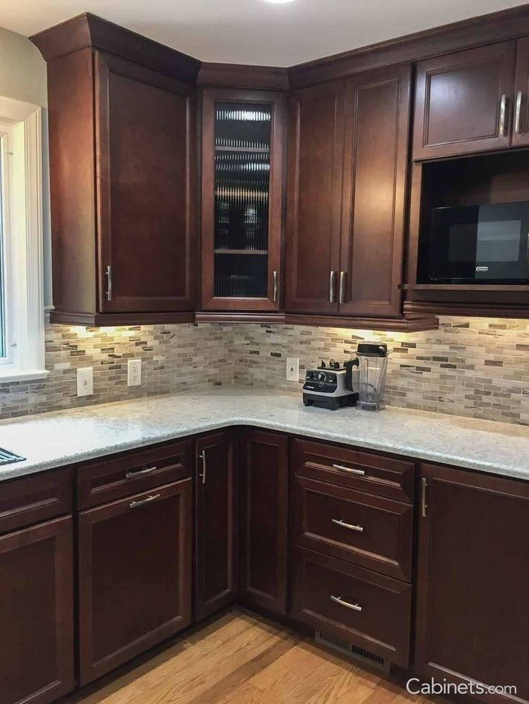 - KitchenDesignBrown In 2020 Backsplash With Dark Cabinets, Home