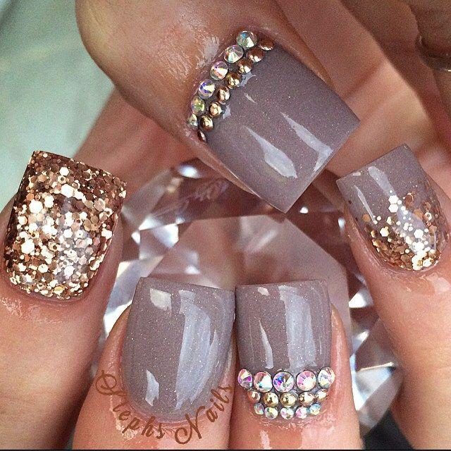 Great for fall nail art   ideas de unas   acrylic nails, gel nails ...