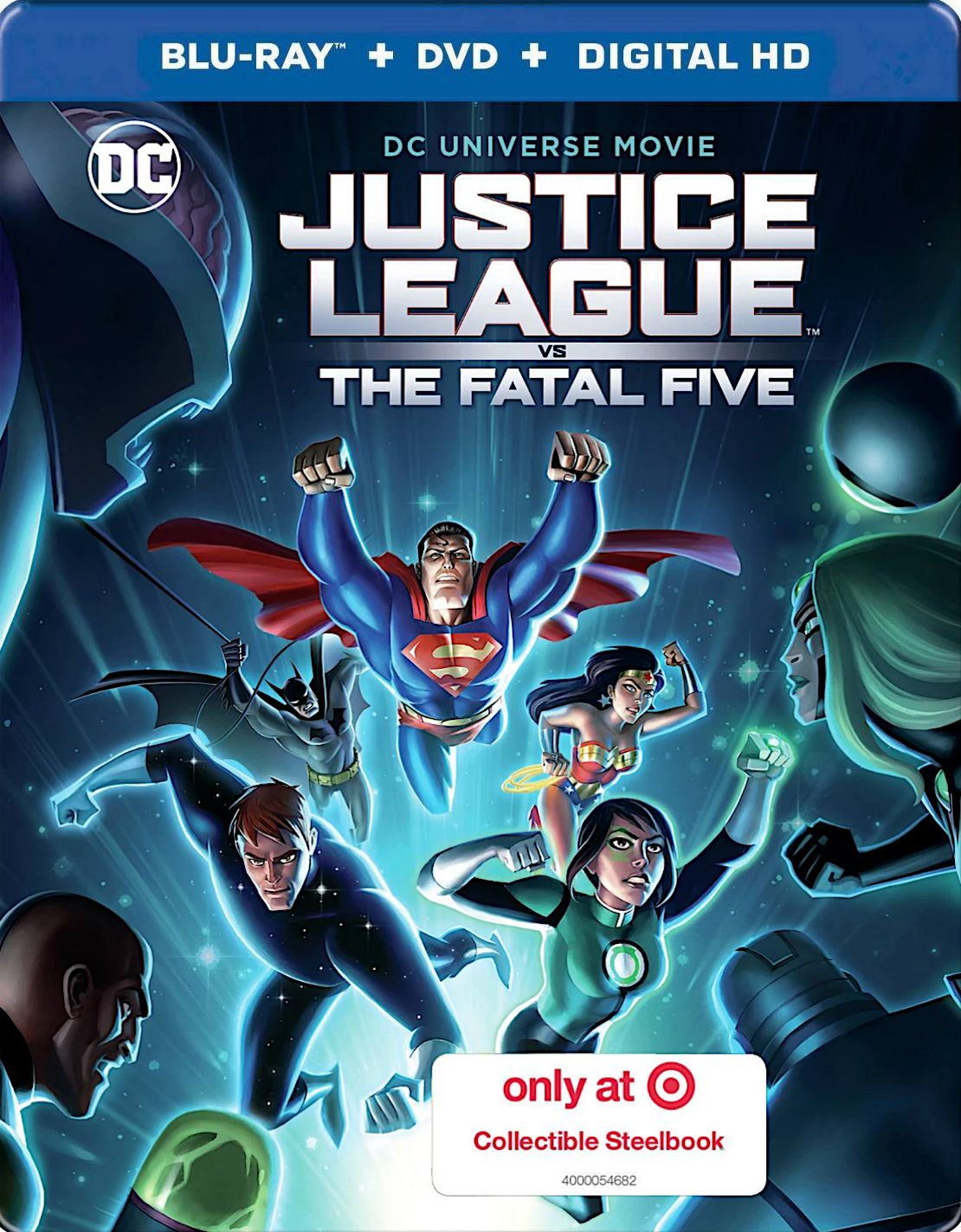 Justice League Vs The Fatal Five Target Exclusive Blu Ray Steelbook Warner Justice League Justice League Animated Watch Justice League