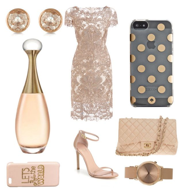 """Cream delight"" by sophiagutierrezgarcia ❤ liked on Polyvore featuring Stuart Weitzman, Chanel, Kate Spade, Topshop, H&M and Michael Kors"