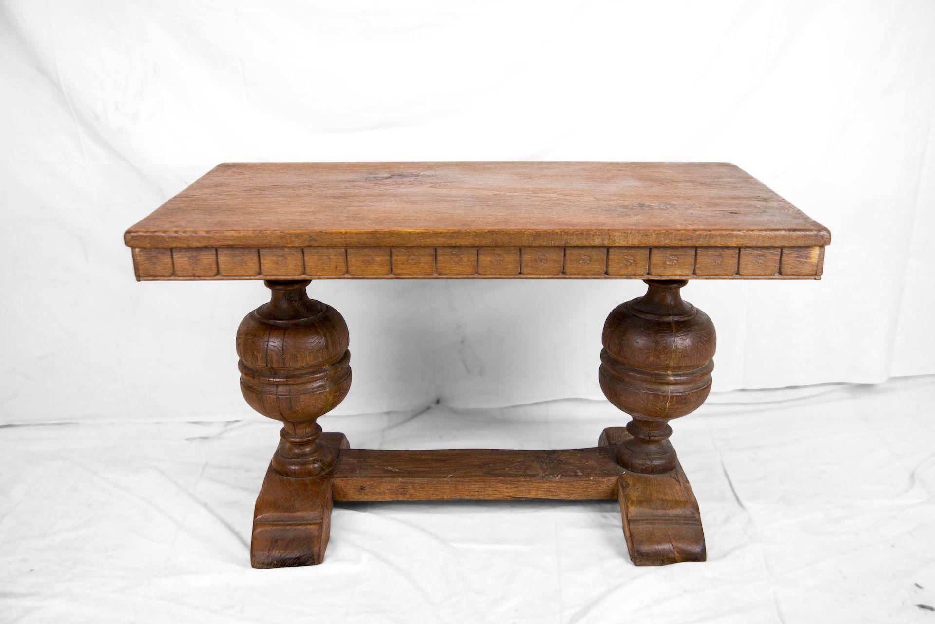 Tavolino Basso Antiquariato.Tavolino Basso In Rovere Inghilterra Primi Del 1900 H 90