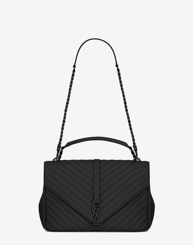 465320beca4b SAINT LAURENT Classic Large Collège Monogram Saint Laurent Bag In Black  Matelassé Leather.  saintlaurent  bags  shoulder bags  hand bags  leather   lining