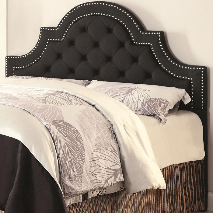 Upholstered Beds Ojai Button-Tufted Upholstered Scooped Arched Queen ...