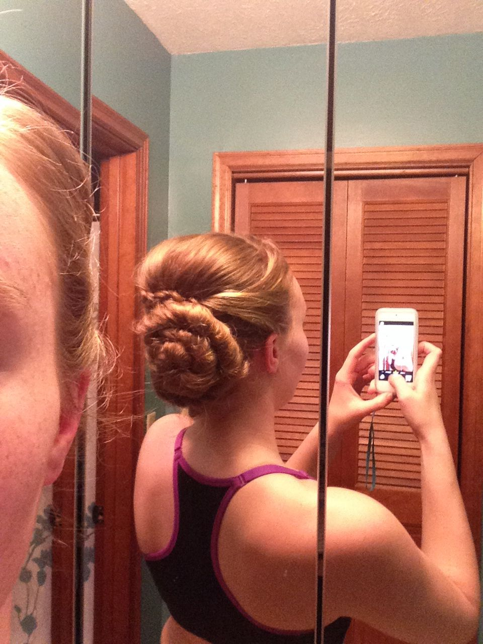 Dance hairstyles. I was amazed that I did this my self!