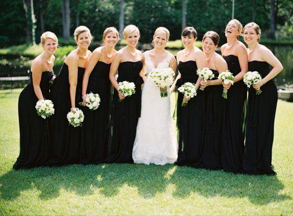 little black bridesmaid dress  Photography by virgilbunao.com