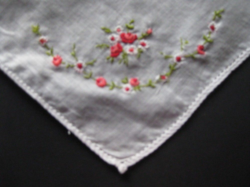 Vintage Ladies embroidered handkerchief via LinkChips. Click on the image to see more!