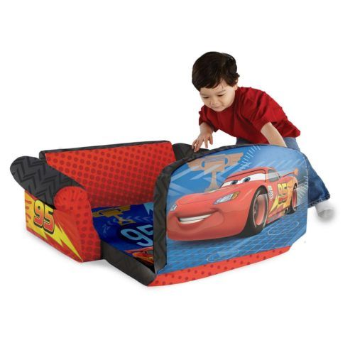 child sleeper sofa maroon children s flip out bed with disney cars 2 marshmallow furniture