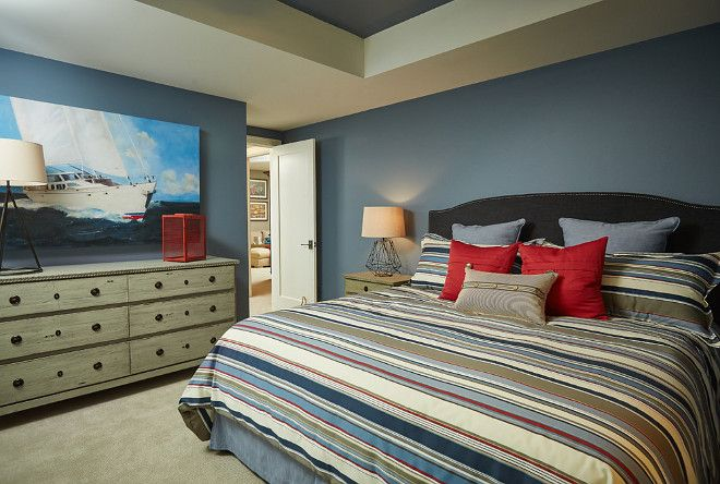 Benjamin Moore Bachelor Blue Wall Paint Color And Ceiling Inset Is