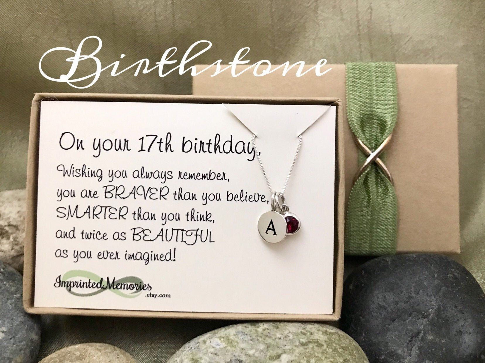 17th birthday gift for girls tiny personalized