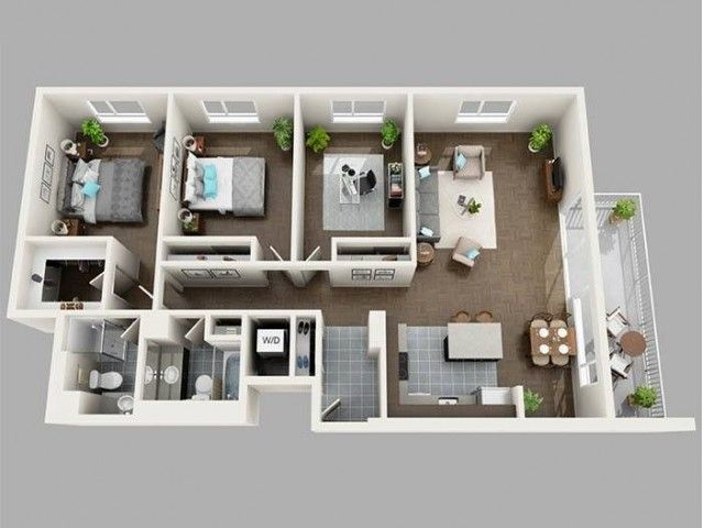 Seattle 3 Bedroom Apartments in 2020 | Small house ...