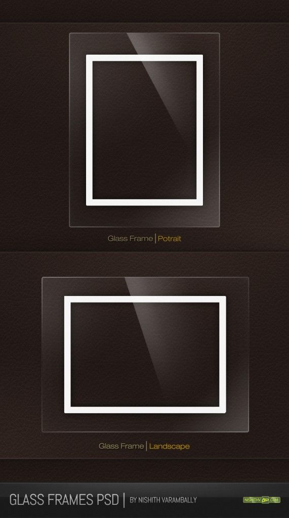 Free Glass Photo Frames PSD Free Download- photo frames psd files ...