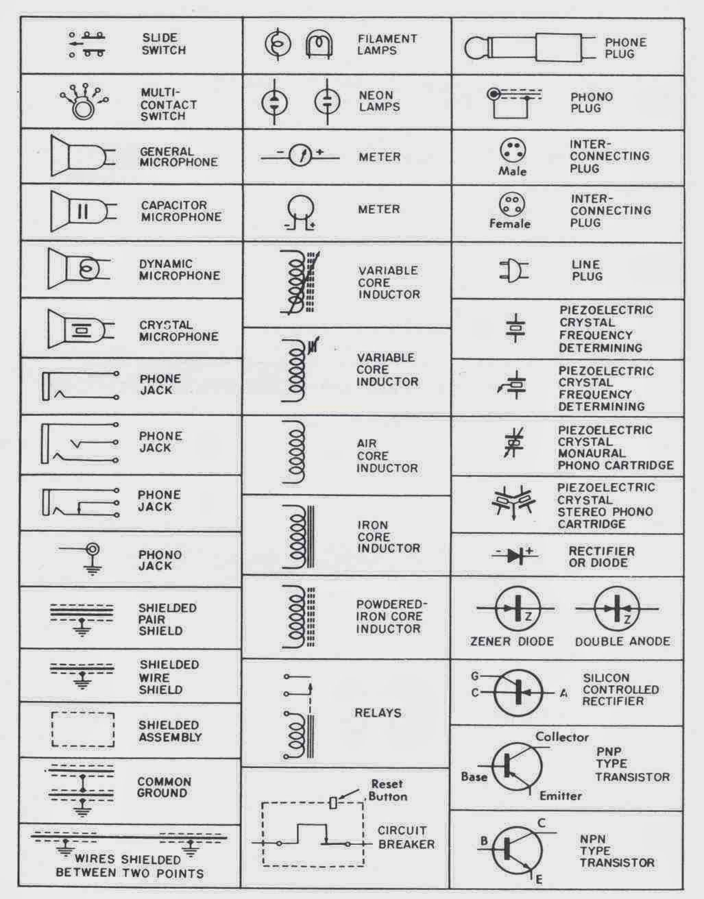 Electronic Schematic Symbols Fylp Restorations Antique