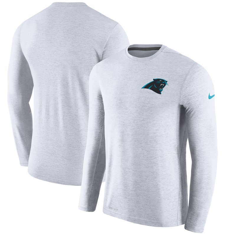 Carolina Panthers Nike Coaches Long Sleeve Performance T-Shirt - White e6e2e3803
