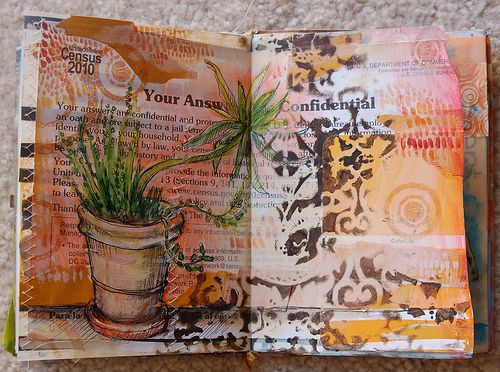 sketch of the pot of succulents outside of Smiling Dog Yoga in San Luis Obispo, CA  www.smilingdogyogaslo.com