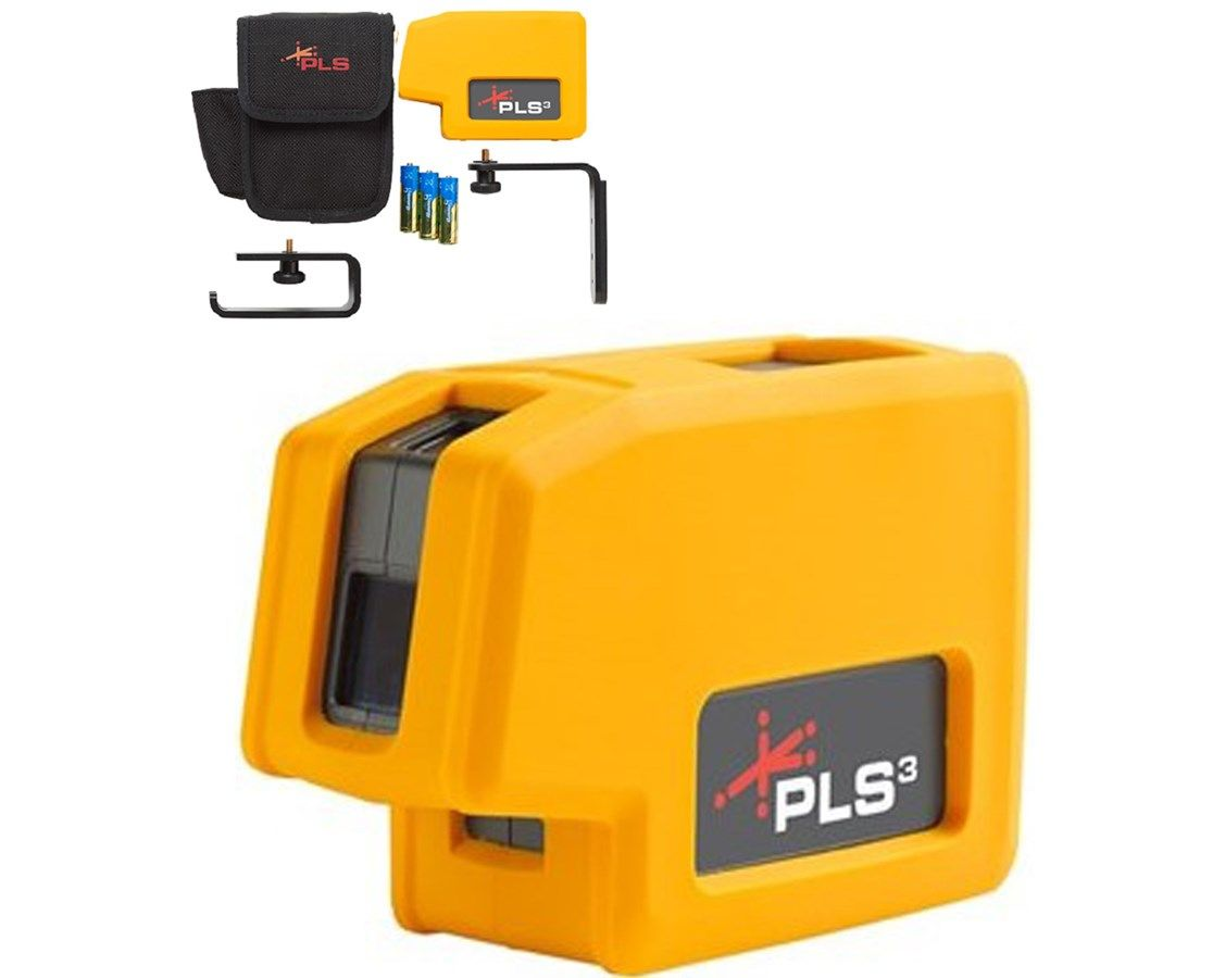 Pacific Laser Systems 4913997 Pls3 Point Laser Level Construction Tools Foot Drop Beams