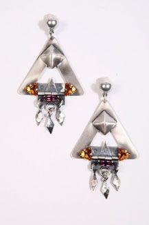 Merle O`Grady Triangle Earrings