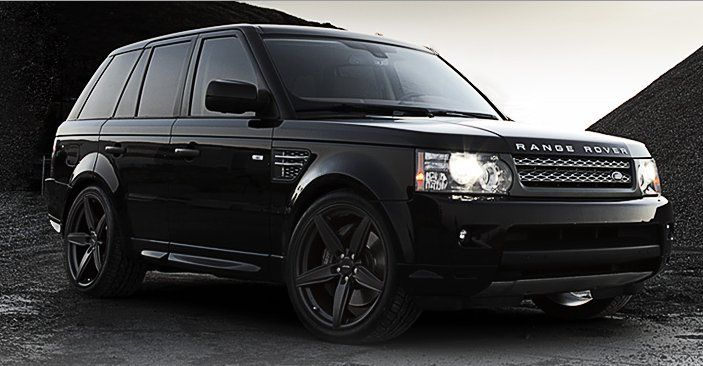 Ace Alloy Couture Wheels All Matte Black On Range Rover Sport
