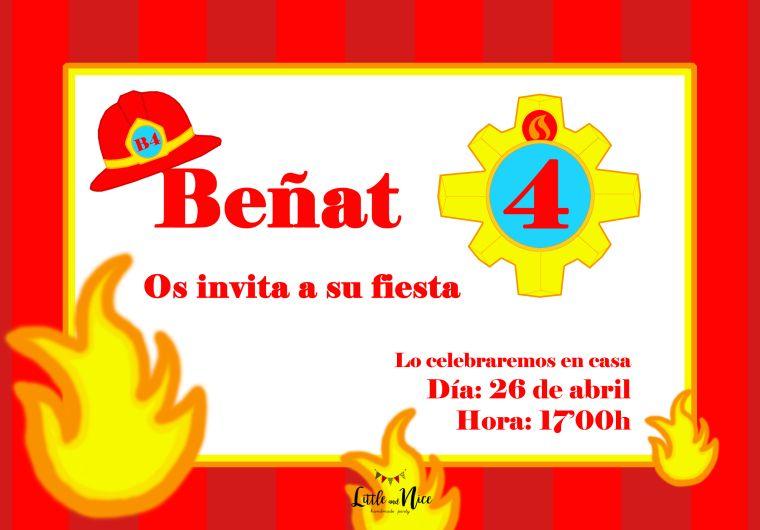 Personalizado Fireman Sam Fiesta de Cumpleaños invita a Inc Sobres
