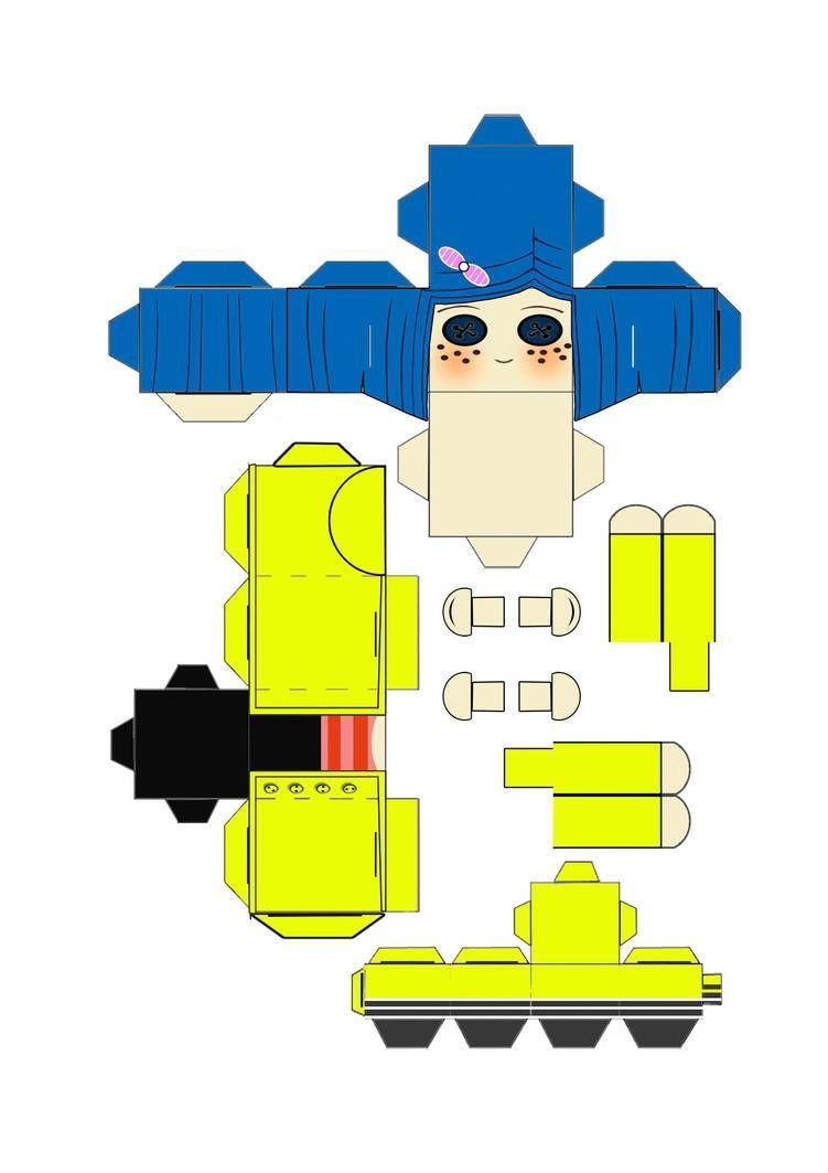 Neil Gaiman S Coraline Cubeecraft Template By Scarykurt On Deviantart In 2020 Coraline Neil Gaiman Anime Crafts