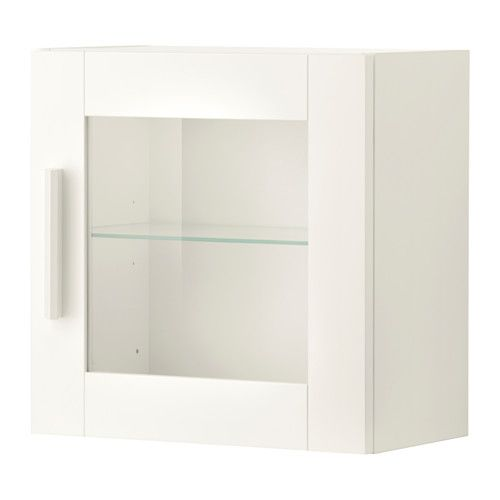 Ikea Brimnes Wall Cabinet With Glass Door White Behind The