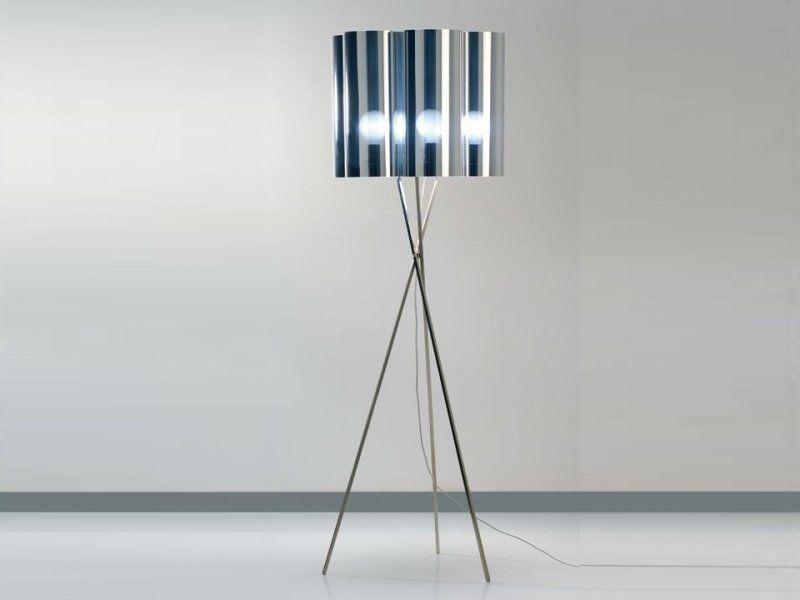 Lampe Sur Pied 164 Cm Tubes 7 Miroir Dix Heures Dix Lampadaires