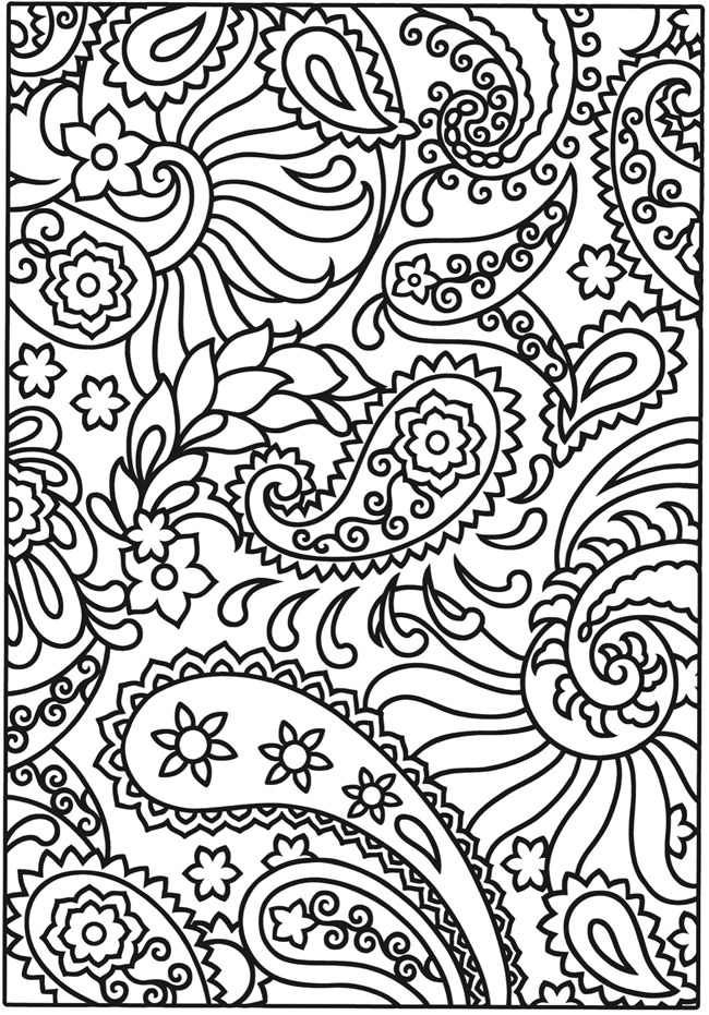 cute paisley design | Coloring book pages, Printable ...